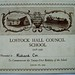 Certificate presented to Richard Cox to commemorate the 21st birthday of Lostock Hall Council School in 1929