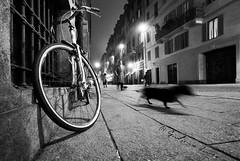 Slow motion (giulianoiunco.it) Tags: blackandwhite bw white black bike bicycle torino blackwhite bn bicyclette bianco nero bianconero biancoenero bicicletta biciclette ypu javadidaz xfr bncittà bnpersone ngpersone giulianoiunco wwwfacebookcomgiulianoiuncophotography wwwgiulianoiuncoit
