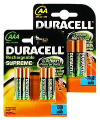 Bundle of AA and AAA size Rechargeable Batteries