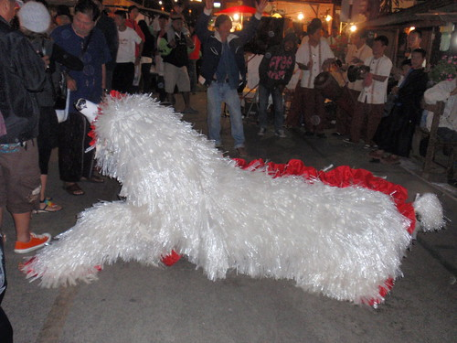 A large animal-thing in downtown Pai