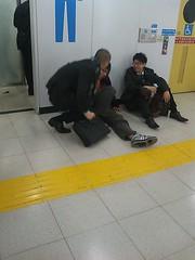 新宿駅の風景