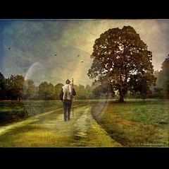 Path to my Self (h.koppdelaney) Tags: life voyage travel man tree art digital photoshop self landscape search symbol path walk space philosophy bubble romantic voyager quest awareness metaphor consciousness psyche pilgrim symbolism psychology archetype parsifal graphicmaster magicunicornverybest