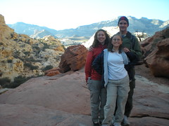 Clare, Emma, Dennis at Calico Tanks