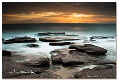 Just Out and About. ([ Kane ]) Tags: ocean longexposure morning sun seascape water clouds canon landscape photography dawn early rocks qld queensland noosa rays kane sunshinecoast caloundra cokin nd400 gledhill sigma1020 50d pointcartwright kanegledhill queenslandcoastline wwwhumanhabitscomau kanegledhillphotography