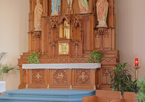 Saint Francis of Assisi Roman Catholic Church, in Aviston, Illinois, USA - tabernacle and high altar