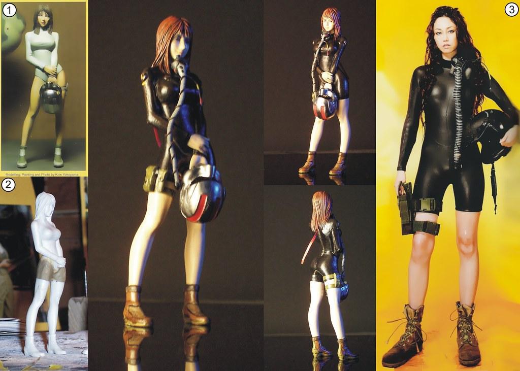 1:20 Ma.K. - Brick Works' Mercenary Woman Space Pilot A Inner Suit Ver. (figure conversion)