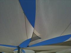 Shade sails (Figgles1) Tags: blue sky sails shade iphone rockingham shadesails