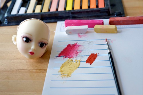 Choose the palette based on your doll's face-up.