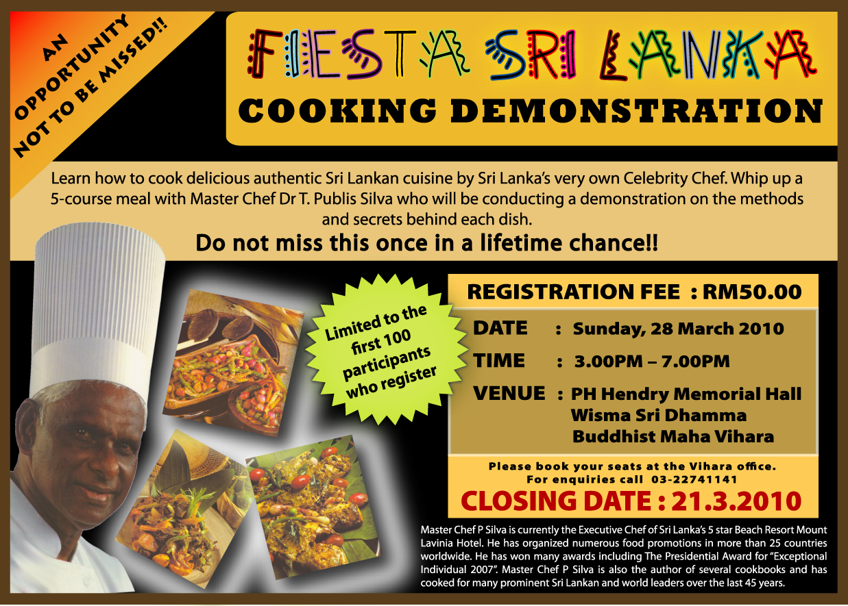 Fiesta Sri Lanka Cooking Demo