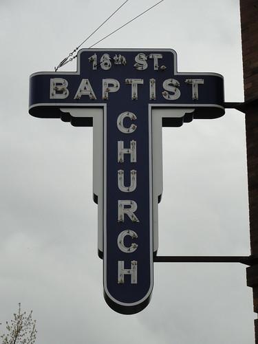 16th Street Baptist Church Sign, Birmingham AL