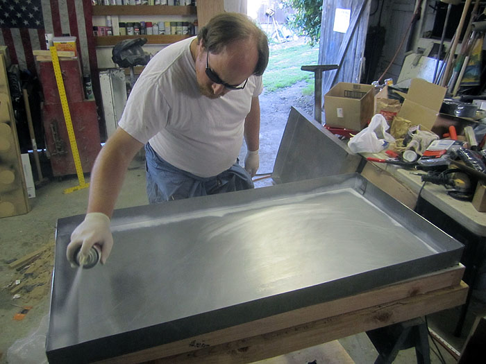 Forming oven painting