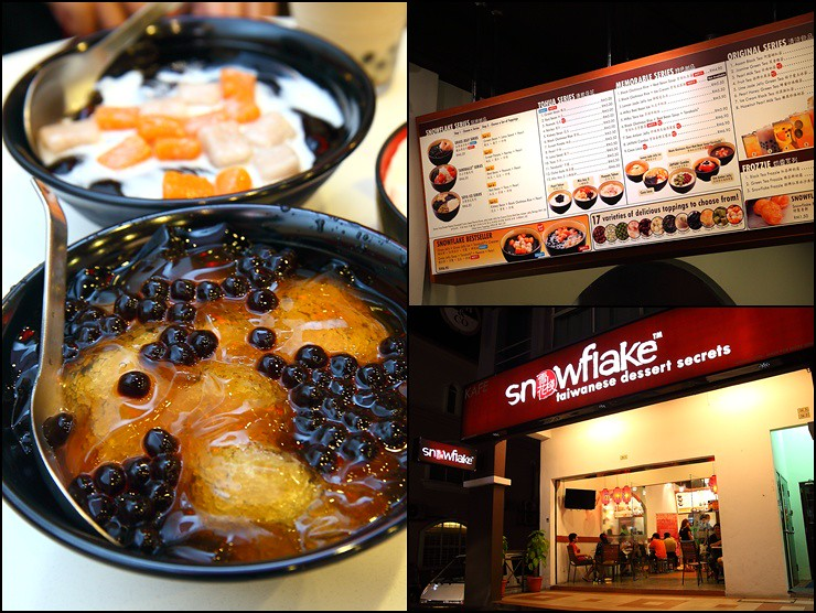 snowflake taiwanese desserts