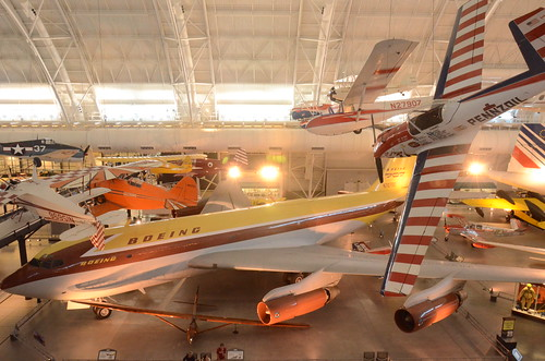 Steven F. Udvar-Hazy Center: Boeing 367-80 (prototype 707, first jet airliner), and De Havilland Canada DHC-1A Chipmunk Pennzoil Special