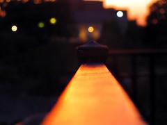 Sun Beam (tru if f  fbuu kijoy) Tags: sunset bokeh railing sunreflection canonpowershotsx120is