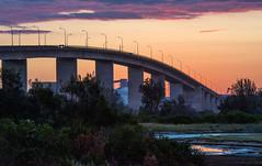 Dusk (OzzRod) Tags: pentax k1 sigma70200mmf28 dusk sunset sky bridge wetland stockton newcastle australia