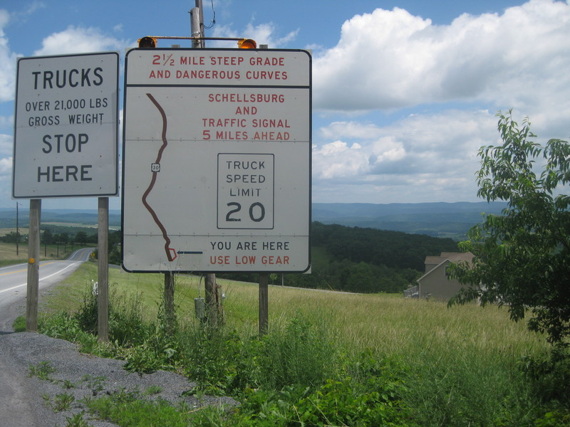 More Steep Grade Warnings