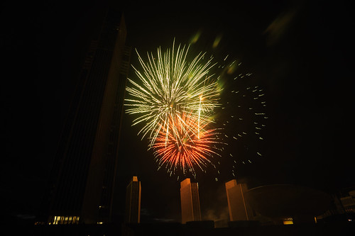 Empire State Plaza Fireworks.  Photo by Chuck Miller.