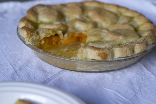 Sliced apricot pie