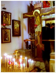 Vespers (Violette79) Tags: nyc light ny newyork candles unitedstates upstairs messiah roca liturgy savior jesuschrist  resurrection orthodoxy   atonement  rocor russianorthodoxchurchoutsiderussia     icxcnika             linite  c russianchurchabroad c