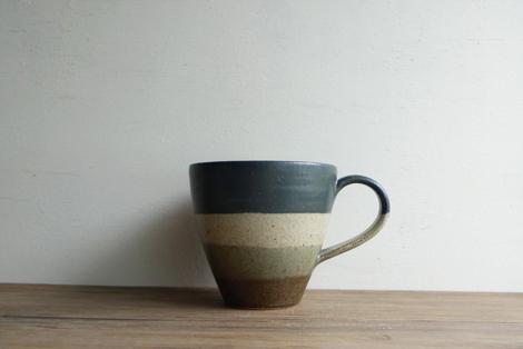 益子焼掛分けマグカップ(3)