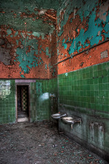 now wash your hands twice... (4DR14N 5L4BO52) Tags: abandoned canon bathroom factory decay hdr lodz 3xp 40d 123hdr canoneos40d canon40d hdraddicted hdraward hdrterrorist