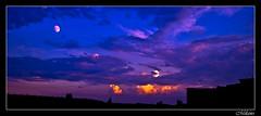 Strani Tramonti (R@ziel) Tags: sunset red panorama cloud moon night clouds nikon heaven raw tramonto nuvole blu milano luna finestra cielo notte luce celeste palazzi ovada d60 nuvoloso