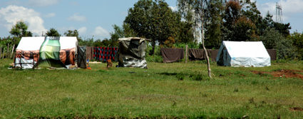 Almost one year and half after the election violence, the Kikuyu internally displaced persons are still living in the tents.