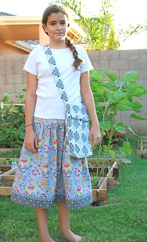 Summer Soiree skirt and tote