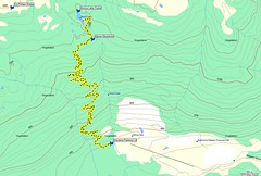 Map of the Arnica Lake Trail, Strathcona Park