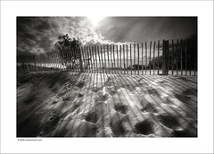 Sand fences (Ian Bramham) Tags: light shadow photography photo sand nikon dunes fineart fences erosion d40 ianbramham welcomeuk