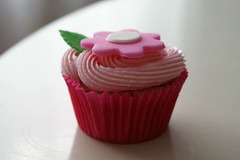 strawberry vanilla buttermilk cupcake with strawberry jam filling ({ coco cake cupcakes }) Tags: babyshowercupcakes pinkcupcakes cococake babycupcakes fondantcupcakes partycupcakes cupcakesvancouver fondantflower cococakecupcakes