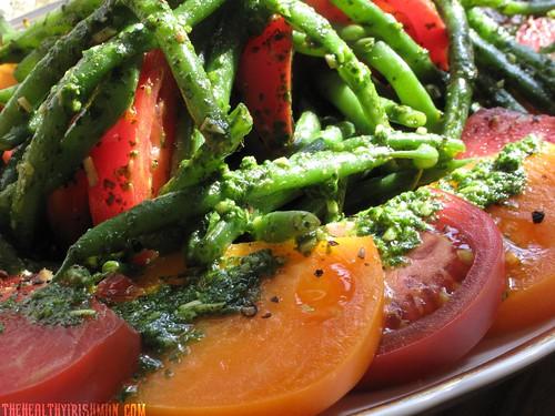 Heirloom Tomato Salad, Cilantro Pesto