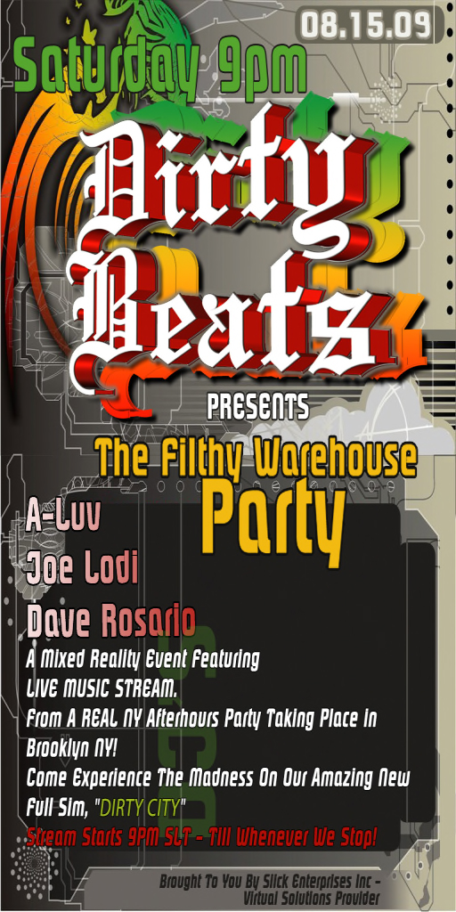 ..____DIRTY BEATS FILTHY WAREHOUSE____.. MIXED-REALITY EVENT!