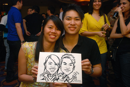 Caricature live sketching for Standard Chartered Bank - 2