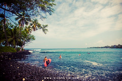 (SARA LEE) Tags: morning pink people girl landscape hawaii design surf board wideangle surfing location tribal bigisland hapa sup kona kailuakona nalu lymans sarahlee aliidrive hypr banyans legothenego standuppaddle alyssaf vivantvie