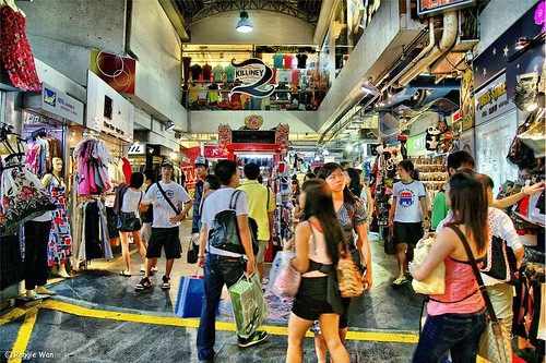 Busy shopping at the Bugis Village.