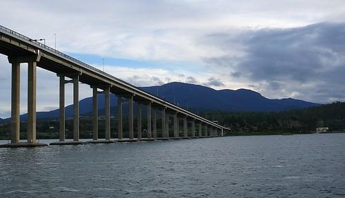 Tasman Bridge and Mt Wellington