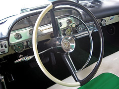 1957 DeSoto Firesweep Shopper dashboard (Ate Up With Motor) Tags: green cars estate 1957 chrysler desoto elsegundo stationwagon shopper carshows firesweep