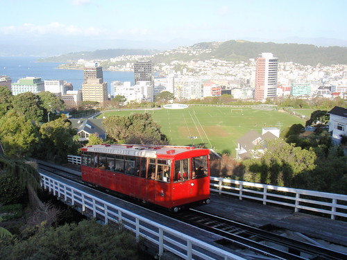 The Wellington Cable Car in action