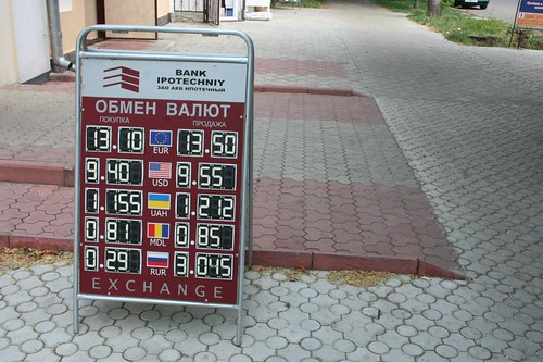 Preços de câmbio em Pridnestróvia Transnístria