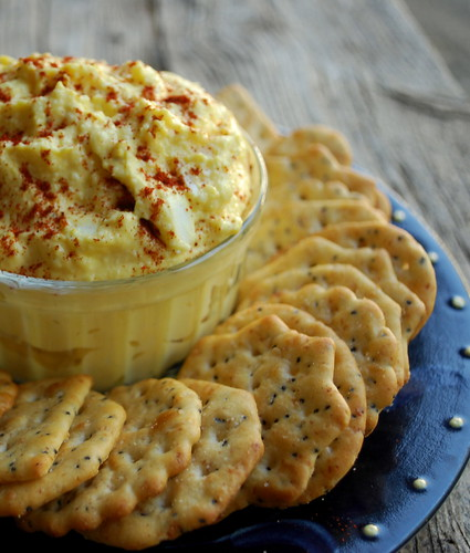 Deviled Egg Spread plate