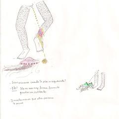 aguamala (esteban emiliani) Tags: pee sketch jellyfish drawing dibujo aguamala orinar