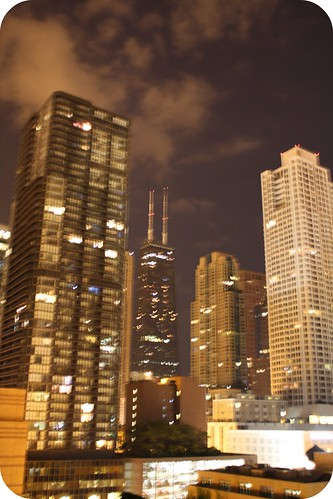 blurry Chicago skyline by you.