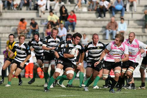 Gagiano, n.8 della Rugby Roma - foto Fama
