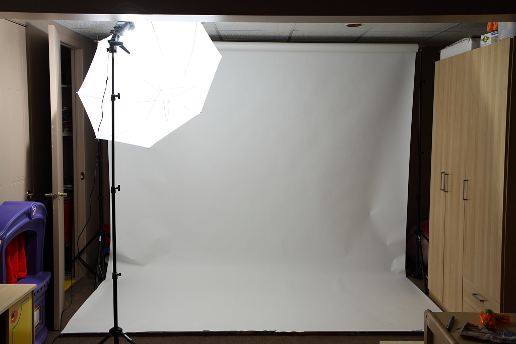 is there a right way to unroll a background roll of paper flash