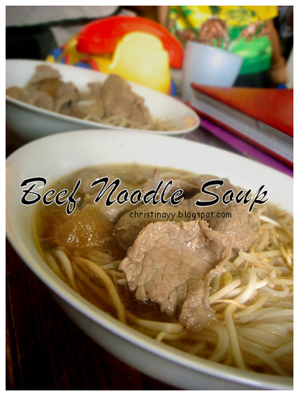 Carnival of Flowers 2009: Lunch Invitation (Beef Noodle Soup)