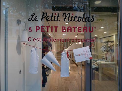 Vitrine Petit Bateau et Le Petit Nicolas - septembre 2009