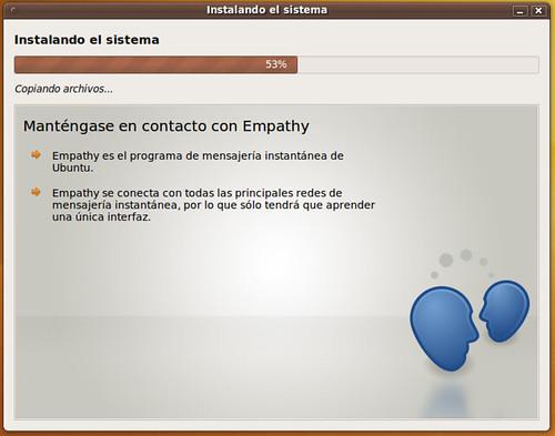 Instalador de Ubuntu 9.10 Karmic Koala