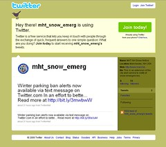 Get Manchester Snow Emergency notifications on Twitter