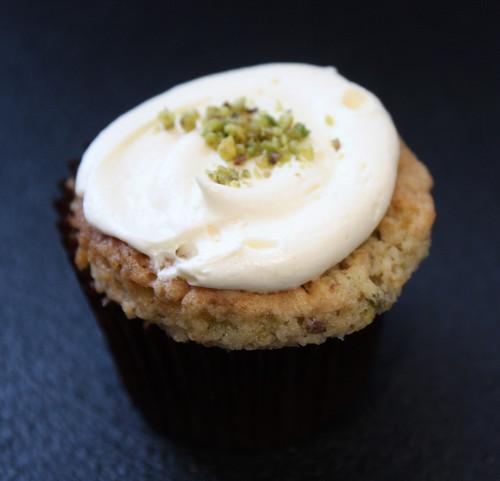 Pistachio & Rose Cupcake